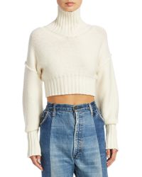 Tre by Natalie Ratabesi - Cropped Wool Sweater - Lyst