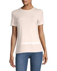 St. John - Jersey Contrast-hem T-shirt - Lyst