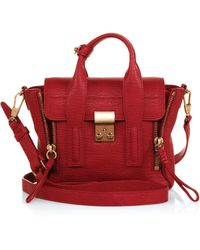 3.1 Phillip Lim - Pashli Mini Shark-embossed Leather Satchel - Lyst
