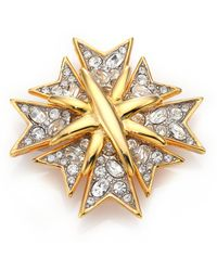 Kenneth Jay Lane - Multi Cross Pave Pin - Lyst
