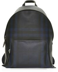 b2e86f6d2704 Lyst - Burberry Abbeydale Leather Backpack in Blue for Men
