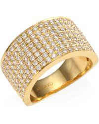 Anita Ko - Diamond 18k Gold Marlow Band Ring - Lyst