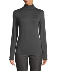 St. John - Stretch Turtleneck Top - Lyst