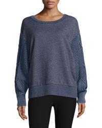 Rag & Bone - Harper Knit Cotton Top - Lyst