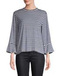 CLU - Asymmetric Stripe Shirt - Lyst