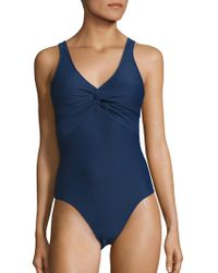 Heidi Klein - Twisted Front One-piece Swimsuit - Lyst