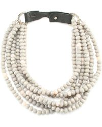 Peserico - Multi Chain Beaded Necklace - Lyst