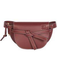Loewe Mini Gate Leather Belt Bag - Multicolour