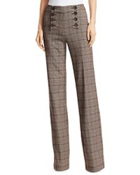 Nanette Lepore - Crusader Plaid Trousers - Lyst
