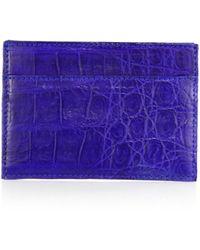 Santiago Gonzalez - Crocodile Card Case - Lyst