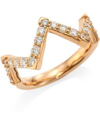 Hearts On Fire - Triplicity Pointed Diamond Ring - Lyst