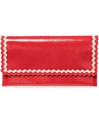 Loeffler Randall - Tiered Ric Rac Leather Everything Wallet - Lyst