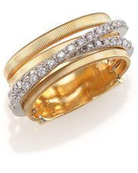 Marco Bicego - Marrakech Diamond & 18k Yellow Gold Five-strand Ring - Lyst