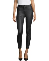 The Kooples - Franky Leather Effect Trousers - Lyst