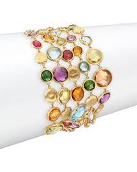 Marco Bicego - Jaipur Semi-precious Multi-stone & 18k Yellow Gold Five-strand Bracelet - Lyst