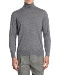 Brunello Cucinelli - Rib-knit High Neck Sweatshirt - Lyst