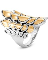 John Hardy - Legends 18k Yellow Gold & Silver Naga Ring - Lyst