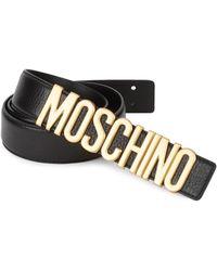44357d5914 Men's Moschino Belts - Lyst