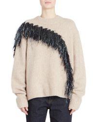 Dries Van Noten - Asymmetric Fringed Sweater - Lyst