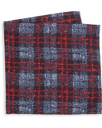 Saks Fifth Avenue - Collection Flannel Herringbone Silk Pocket Square - Lyst