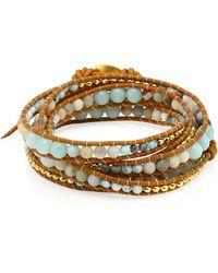 Chan Luu - Matte Multi Amazonite Mix Wrap Bracelet - Lyst