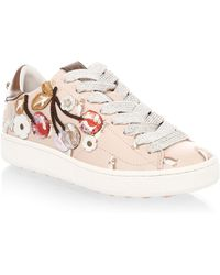 COACH - Cherry Leather Fashion Sneakers - Lyst