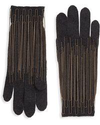 Brunello Cucinelli - Chain Trim Cashmere Gloves - Lyst