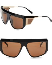 Balmain - 62mm Aviator Shield Sunglasses - Lyst
