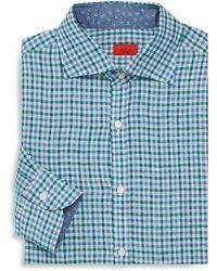 Isaia - Regular-fit Check Dress Shirt - Lyst