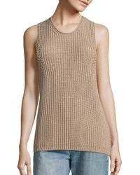 Vince Waffle-knit Sleeveless Cotton Jumper