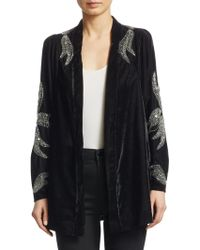 Dodo Bar Or - Corrine Embellished Velvet Cardigan - Lyst