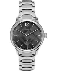 Burberry - Round Stainless Steel Watch - Lyst