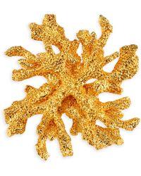 Kenneth Jay Lane - Satin Goldtone Reef Pin - Lyst