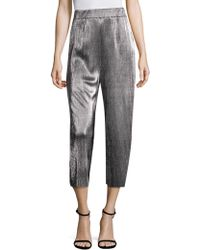 Likely - Olivia Tailored Metallic Pleated Trousers - Lyst