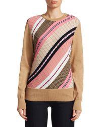 Victoria Beckham - Diagonal Stripe Sweater - Lyst