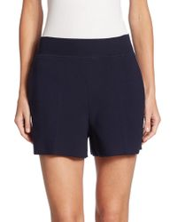 The Row - Selbia Wool-blend Shorts - Lyst