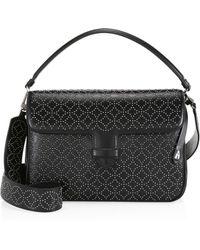 6b3dbfcd3acb Alaïa - Women s Medium Bettina Lasercut Leather Crossbody Bag - Black - Lyst