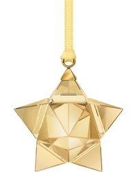 Swarovski - Goldtone Star Ornament - Lyst