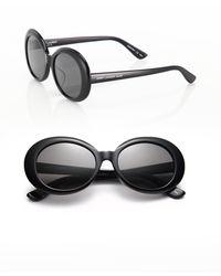 5c272add42f Saint Laurent - Sl 98 California 53mm Oversized Oval Sunglasses - Lyst