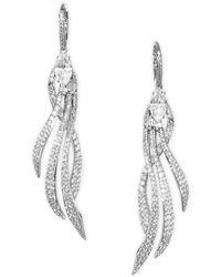 Adriana Orsini | Lush Pave Drop Earrings | Lyst