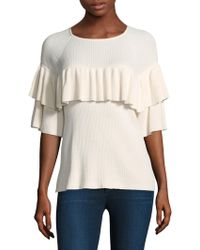 Vineyard Vines - Ruffled Ribbed Sweater - Lyst