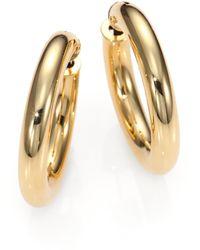 Roberto Coin | 18k Yellow Gold Hoop Earrings/1 | Lyst