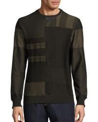 Ferragamo - Graphic Cotton & Leather Sweatshirt - Lyst