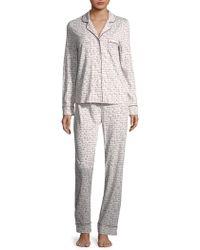 Saks Fifth Avenue - Classic Knit Pajamas - Lyst