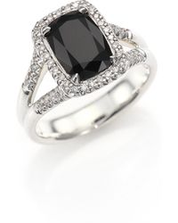 John Hardy - Classic Chain Batu Diamond, Black Onyx & Sterling Silver Ring - Lyst