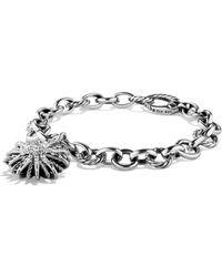 David Yurman - Starburst Charm Bracelet With Diamonds - Lyst