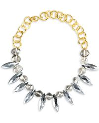 Stephanie Kantis - Foxy Crystals, 18k Yellow Gold & Sterling Silver Plated Choker - Lyst