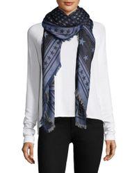 Givenchy - Star Wool & Silk Scarf - Lyst