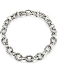 "David Yurman - Oval Extra-large Link Necklace/17"" - Lyst"