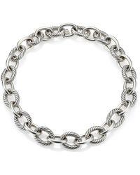 "David Yurman | Oval Extra-large Link Necklace/17"" | Lyst"